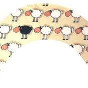 Stillkissen Schaf schwarz weiss
