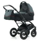 Knorr-Baby Kinderwagen Voletto Tupfen Limited, schwarz-weiß