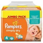 Pampers Simply Dry Gr. 4 Jumbo Pack