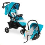 Froggy® Kombi-Kinderwagen mit Autositz türkis