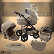 Luxuskinderwagen Ferriley & Fitz Easy Set beige