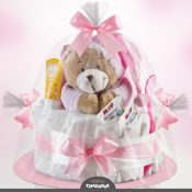 Windeltorte rosa Bär
