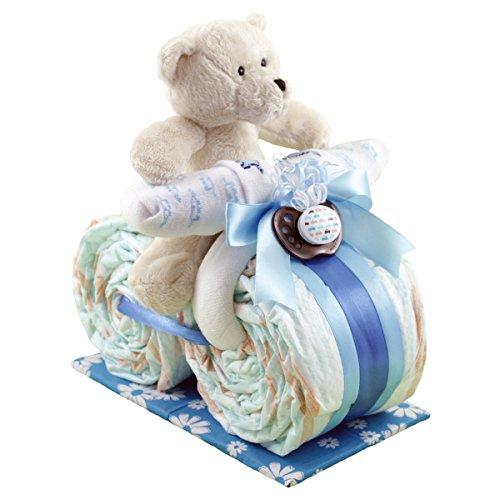 windeltorten teddy auf motorrad. Black Bedroom Furniture Sets. Home Design Ideas